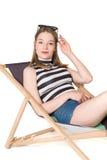 Adolescente hermoso en equipo del verano Fotos de archivo libres de regalías
