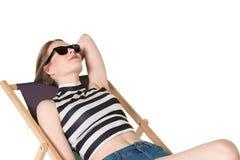Adolescente hermoso en equipo del verano Fotos de archivo