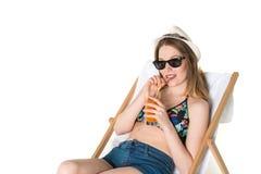 Adolescente hermoso en equipo del verano Imágenes de archivo libres de regalías