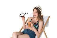 Adolescente hermoso en equipo del verano Imagen de archivo