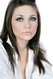Adolescente hermoso en la camisa blanca Imágenes de archivo libres de regalías