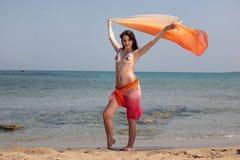 Adolescente hermoso en la playa Foto de archivo