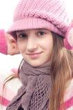 Adolescente hermoso en ropa del otoño Fotografía de archivo libre de regalías