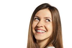Adolescente hermoso en una camiseta blanca en blanco Fotos de archivo libres de regalías