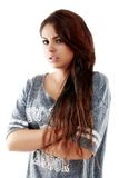 Adolescente hermoso que presenta con una imagen positiva Foto de archivo libre de regalías