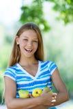 Adolescente hermoso sonriente Imagenes de archivo