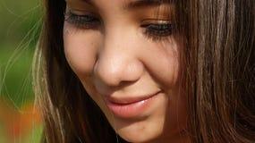 Adolescente hermoso tímido Imagen de archivo