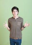 Adolescente hispánico con los brazos abiertos Fotos de archivo libres de regalías