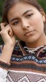 Adolescente hispánico confuso Fotos de archivo