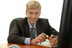 Adolescente - hombre de negocios. Imagen de archivo libre de regalías