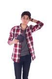 Adolescente imbarazzato Fotografia Stock Libera da Diritti