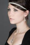 Adolescente impressionante na colar de diamante Foto de Stock Royalty Free