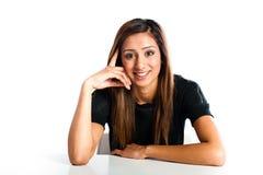 Adolescente indiano asiático feliz bonito novo Fotos de Stock