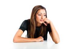 Adolescente indiano asiático infeliz bonito novo Imagem de Stock Royalty Free