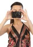 Adolescente indiano com câmera fotos de stock