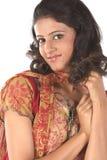 Adolescente indio con el pelo hermoso Imagenes de archivo