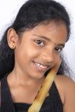 Adolescente indio con la flauta Fotos de archivo libres de regalías
