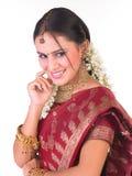 Adolescente indio con las joyas Imagenes de archivo