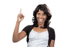 Adolescente indio en el fondo blanco Fotografía de archivo libre de regalías