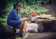Adolescente indio pobre Fotos de archivo libres de regalías