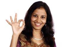 Adolescente indio sonriente Imagen de archivo