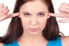 Adolescente infeliz Imagen de archivo libre de regalías