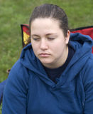 Adolescente infeliz Imagem de Stock
