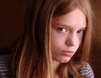 Adolescente infeliz Foto de archivo libre de regalías