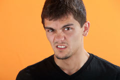 Adolescente irritado imagem de stock