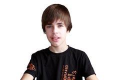 Adolescente isolado no branco Imagem de Stock Royalty Free