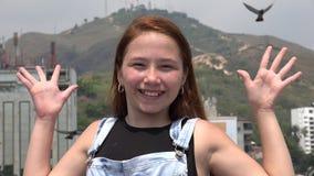 Adolescente joven emocionado Imagenes de archivo