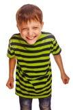 Adolescente joven en la diversión verde de la camiseta despreocupada Fotografía de archivo libre de regalías