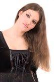 Adolescente joven hermoso con maquillaje gótico Foto de archivo