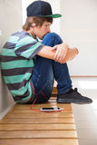 Adolescente a la hora de la crisis Imagen de archivo libre de regalías