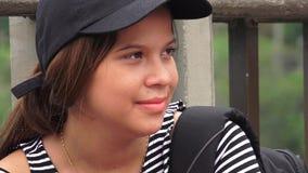 Adolescente latino-americano fêmea novo foto de stock