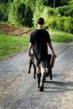 Adolescente lavorante Fotografia Stock Libera da Diritti