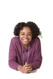 Adolescente lindo aislado Imagen de archivo