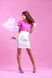 Adolescente lindo con los globos Imagen de archivo libre de regalías