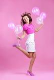 Adolescente lindo con los globos Fotos de archivo libres de regalías