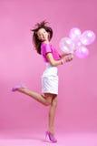 Adolescente lindo con los globos Imágenes de archivo libres de regalías