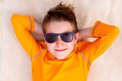 Adolescente lindo el vacaciones Imagen de archivo