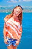 Adolescente lindo el vacaciones de verano Fotografía de archivo