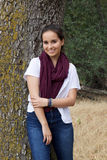 Adolescente lindo en parque Fotos de archivo libres de regalías