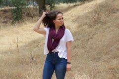 Adolescente lindo en parque Fotos de archivo
