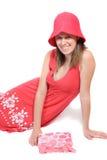 Adolescente lindo en una alineada del color del bígaro Imagen de archivo libre de regalías