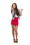 Adolescente lindo que hace un phonecall Imagen de archivo libre de regalías