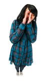 Adolescente lindo que muestra algo Fotografía de archivo libre de regalías