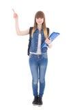 Adolescente lindo que señala al lado Fotos de archivo