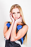 Adolescente louro elegante Fotografia de Stock Royalty Free