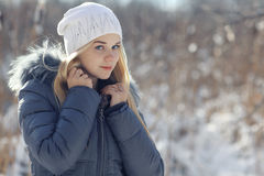Adolescente louro novo bonito Foto de Stock Royalty Free